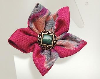 Vintage Kimono Flower Pin