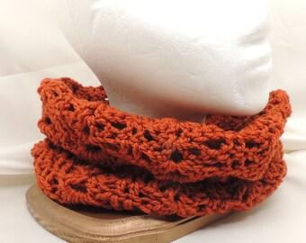 Saffron Crocheted Cowl in Merino and Cashmere
