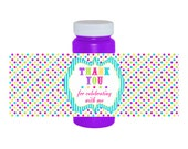 INSTANT DOWNLOAD Printable 4 oz. Bubble Bottle Labels - Carnival Ride Party Collection