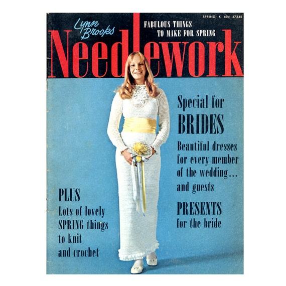 Lynn Brooks Needlework Spring 1972 Crochet and Knitting Patterns, Dresses, Vests, Hats, Skirts, Ponchos