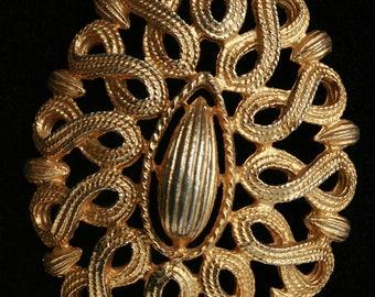 Bold Filigree Pendant Necklace Vintage Ornate Necklace Bold Beautiful Any Occasion