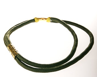 statement necklace from rope jewelry