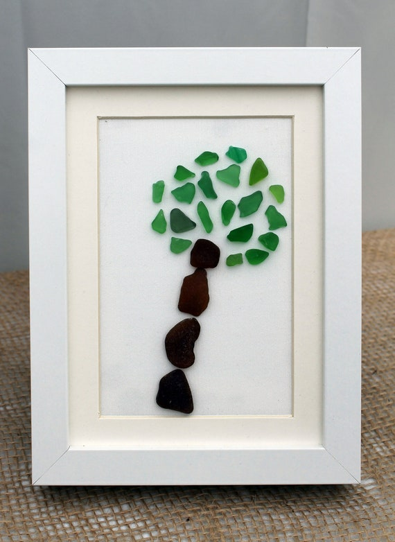 Sea Glass Art, Tree