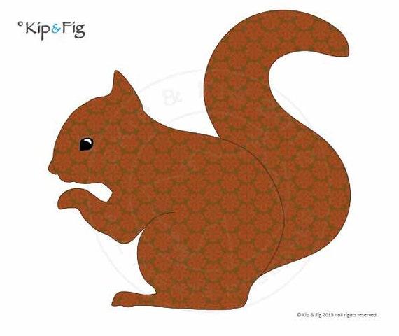 Red Squirrel Applique Template Pdf Applique Pattern