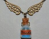 Blue Freedom - Vintage necklace