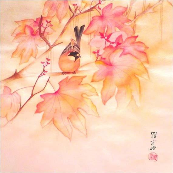 """Autumn Song Print 4"""" x 4"""""""