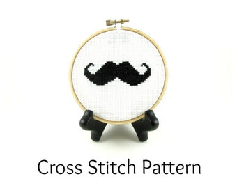 Mr. Moustache Cross Stitch Pattern