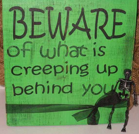 Halloween beware signs