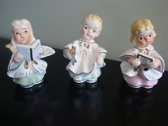3  Singing Angel Figurines Made in Japan