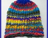 Rainbow Knit Hat, Baby Hat, Baby Photo Prop