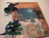 Vintage The Animals' Christmas Eve Golden Tell-A-Tale Book Recycled Mini-Journal Notebook