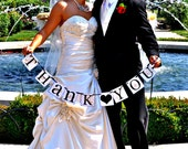 THANK YOU Wedding Garland...Thank You Banner Photo Prop Wedding Sign CUSTOM Colors Word Sign
