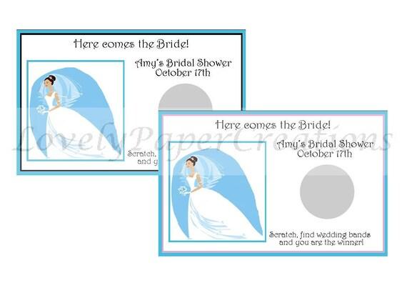 Personalized Modern Bride Bridal Shower Scratch off Game