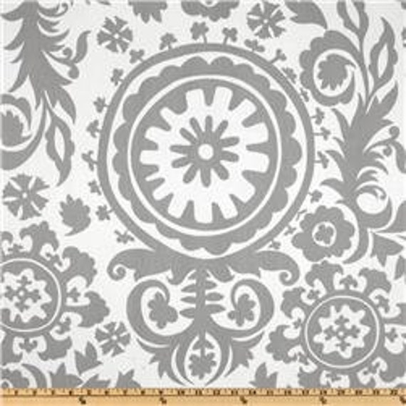Grey Suzani Table Runner
