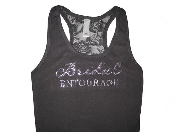Bridal Entourage Lace Tank Top, Bridesmaid Tank Tops, Bridesmaid Shirts, Bride Shirt, Bride Tank Top, Bachelorette Party Tanks, Wedding Tank