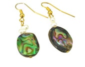Abalone and Pearl Earrings - island style