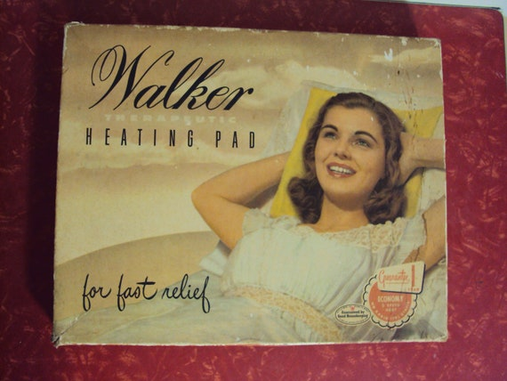 Vintage Walker Heating Pad with Original Box Great for Collecting