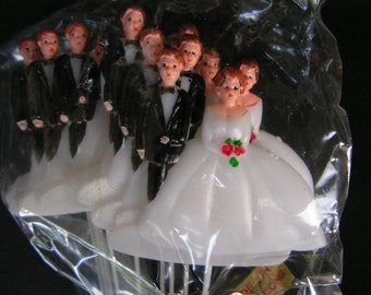 Vintage Wedding Decorations, 12 plastic Craft Picks