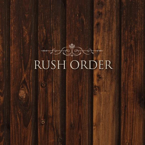 Rush Order, flat fee