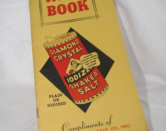 "Vintage Advertising Notebook: Diamond Crystal Salt 1940s Ephemera ""Want Book"""
