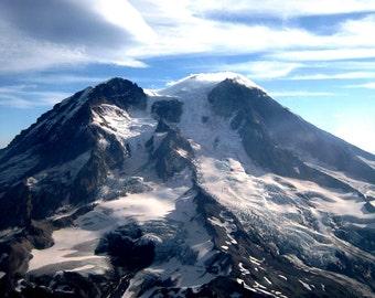 Cross Stitch Pattern of Mount Rainier Peak - Washington - Vintage Photograph  - Fine Art Photography, Photographic Art