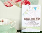 Vintage Bunting Invitation