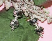Grey and Silver Earrings