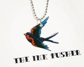 sparrow tattoo necklace