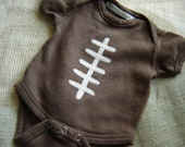 Custom Brown Football Onesie -  Fall - Sports