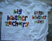 Custom Personalized Big Brother/Little Brother Shirt Combo