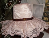 Steampunk Hat, Lolita Hat, Mini Victorian Hat with Leather belt