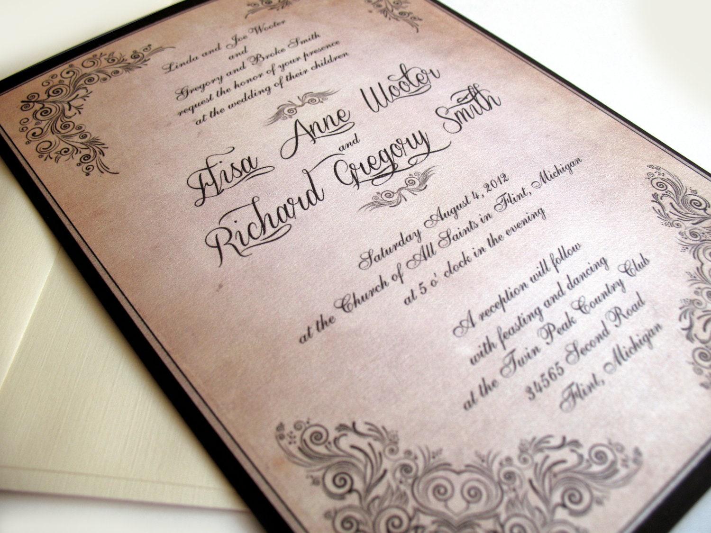 Vintage Wedding Invitations Scroll Manifesto By DesignedWithAmore