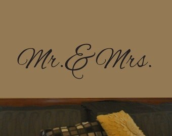 "Vinyl Decal ""Mr. & Mrs."""