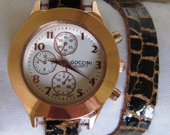 Stylish Lady Bronze Wrist Watch  FREE SHIPPING