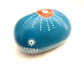 Mrs. Zirious Whale / Zirious Collection / Hand painted stone by Circle and the dot