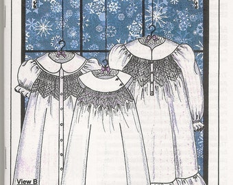 Little Snowdrift Smocking Sewing Pattern by Judith Marquis