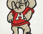 Alabama Embroidery Design, Big AL, Alabama Elephant, Elephant (5) Instant Download