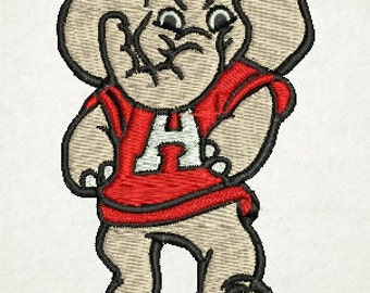 Alabama Embroidery Design, Big AL, Alabama Elephant, Elephant (5) Instant Download