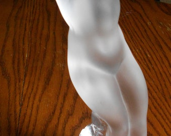 Lalique Arms Up Dancer, Crystal