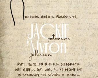 Custom Vintage Wedding Invitations
