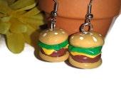 Hamburger Delight Earrings, Burger Earrings, Hamburger Jewelry, Burger Jewelry, new year accessories, food jewelry
