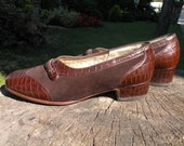 Brown Baur Bequem suede leather shoes with faux leather decoration UK 6,5 EU39,5 US 9,5
