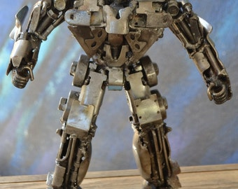 "Hand Made OPTIMUS PRIME  TRANSFORMERS 12""  Recycled Scrap Metal Sculpture"