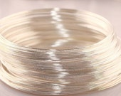 100 Continuous Loops Silver Plated SALE Light White Silver Memory Wire 55mm Destash supplies supply Bracelet