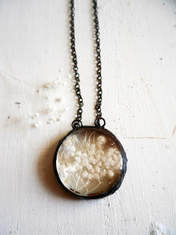 Baby's Breath Dome Necklace