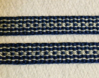 "Honnourée -  Hand Woven Inkle Trim (1/2"" wide)"