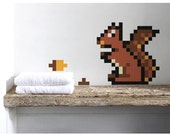 Squirrel  Wall Decal  Puxxle - The Pixel Puzzle