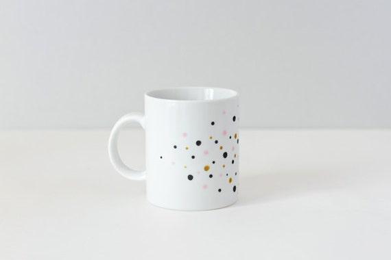 Multicolored dots mug