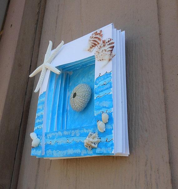 Seashell Shadow Box - Handmade Home Decorations - Beach House Decorations - Starfish and Sea Urchins