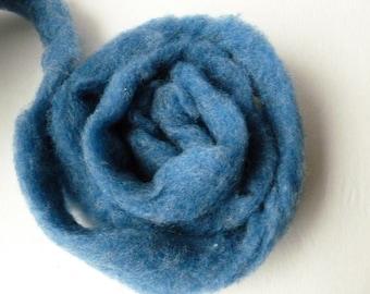 Wool Roving Denim Heather by Bartlett yarns